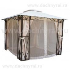 Беседка шатер Милан 3х3 усиленная сетка и шторы