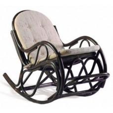 Кресло-качалка плетеное из ротанга с подножкой (Венге)
