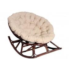 Креслo-качалка Папасан (Papasan) плетеное из ротанга (Браун)