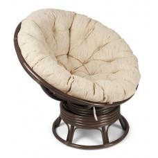 Кресло Papasan (Папасан) плетеное из ротанга вращающееся (Браун)