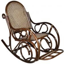Кресло-качалка из ротанга с подножкой (Браун)