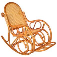 Кресло-качалка из ротанга с подножкой (Коньяк)