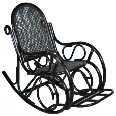 Кресло-качалка из ротанга с подножкой (Венге)