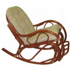 Кресло-качалка с подножкой (Коньяк)