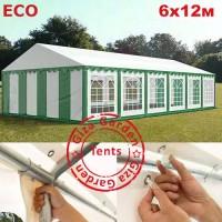 Шатер Giza Garden 6x12м зелено-белый ECO
