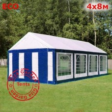 Шатер Giza Garden 4x8 бело-синий