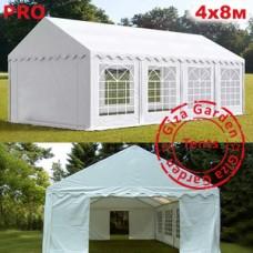Шатер Giza Garden 4x8 белый PRO усиленный
