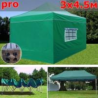 Быстросборный шатер автомат 3x4,5м PRO зеленый