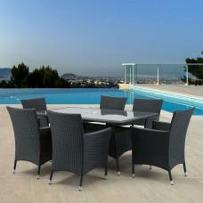 Комплект плетеной мебели AFM-170S/Y189D  Black 6Pcs