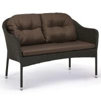 Плетеный диван S54A-W53 Brown
