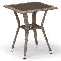 Плетеный стол T25-W56-50x50 Light brown
