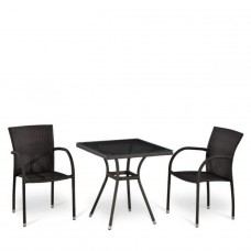 Комплект плетеной мебели T282BNT-W2390/Y282-W52 Brown 2Pcs