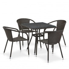 Комплект плетеной мебели T282BNT/Y137C-W53 Brown 4Pcs