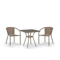 Комплект плетеной мебели T282BNT/Y137C-W56 Light brown 2Pcs