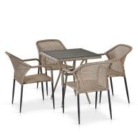 Комплект плетеной мебели T282BNT/Y35G-W1289 Pale 4Pcs