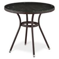 Плетеный стол T283ANT-W51-D80 Brown