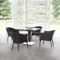 Комплект плетеной мебели T605SWT/Y350B-W53 Brown