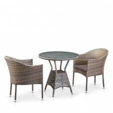Комплект плетеной мебели T705ANT/Y350G-W1289 2Pcs Pale