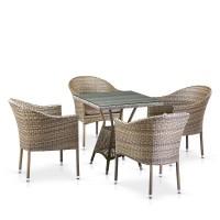 Комплект плетеной мебели T706G/Y350G-W1289 4Pcs Pale