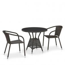 Комплект плетеной мебели T707ANS/Y137C-W53 2Pcs Brown