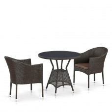 Комплект плетеной мебели T707ANS/Y350-W53 2Pcs Brown