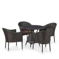 Комплект плетеной мебели T707ANS/Y350-W53 4Pcs Brown