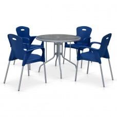 Комплект мебели для кафе TD90/XRF065BB-Blue (4+1)