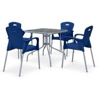 Комплект мебели для кафе TL80x80/XRF065BB-Blue (4+1)