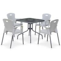 Комплект мебели для кафе TL80x80/XRF065BW-White (4+1)