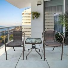 Комплект мебели Асоль-3B TLH-037B/055S-45х45 Brown (2+1)