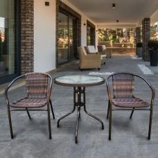 Комплект мебели Асоль-1B TLH-037BR2/060RR-D-60 Brown (2+1)