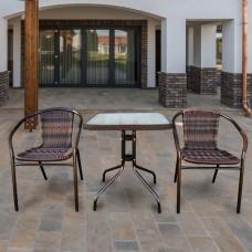 Комплект мебели Асоль-2B TLH-037BR2/060SR-60х60 Brown (2+1)