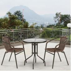 Комплект плетеной мебели Асоль-1C  TLH-037BR3/TLH060-D60 Brown (2+1)