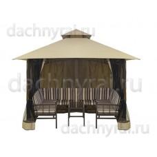 Беседка павильон с диванами и столиком