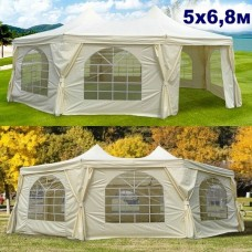 Большой шатер павильон восьмиугольный AFM 5х6,8 м