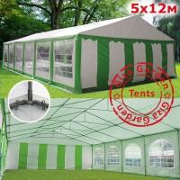 Шатeр павильон Giza Garden 5x12м бело-зеленый