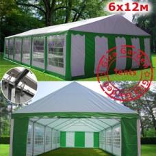 Шатер Giza Garden 6x12м зелено-белый PRO