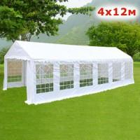 Шатер павильон Giza Garden 4x12м белый