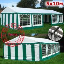 Шатер Giza Garden 5x10м бело-зеленый ЭКО