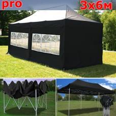 Быстросборный шатер автомат PRO 3х6м черный