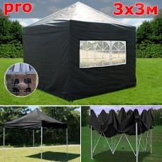Быстросборный шатер автомат PRO 3х3м черный