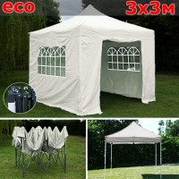 Быстросборный шатер автомат  3х3м со стенками белый