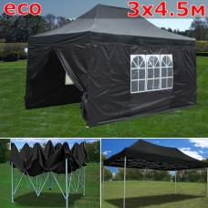 Быстросборный шатер гармошка со стенками 3х4,5м черный