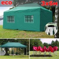 Быстросборный шатер автомат со стенками 3х6м зеленый