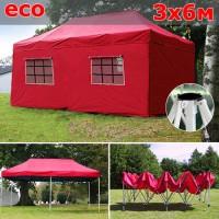 Быстросборный шатер автомат со стенками 3х6м красный