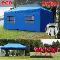 Быстросборный шатер автомат со стенками 3х6м синий