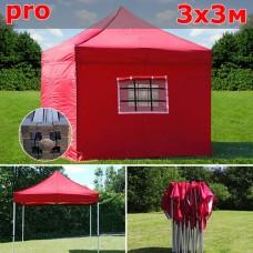 Быстросборный шатер автомат PRO 3х3м красный