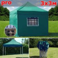Быстросборный шатер автомат PRO 3х3м зеленый