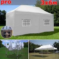Быстросборный шатер автомат PRO 3х6м белый