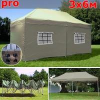 Быстросборный шатер автомат PRO 3х6м бежевый